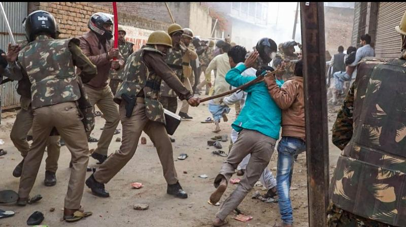 Meanwhile, 9000 protestors have been booked and 2000 held for the violent protests across the state. (Photo: PTI)