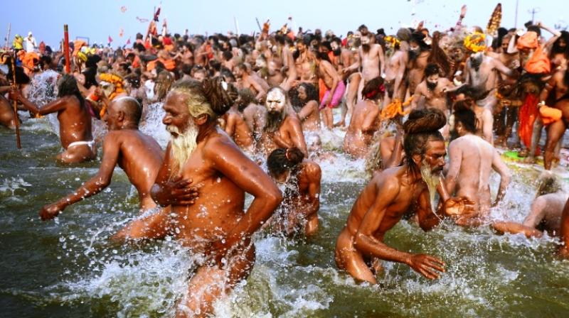 More than 30 million devotees were expected to immerse themselves at the confluence of three holy rivers – the Ganges, the Yamuna and the mythical Saraswati. (Photo: AFP)