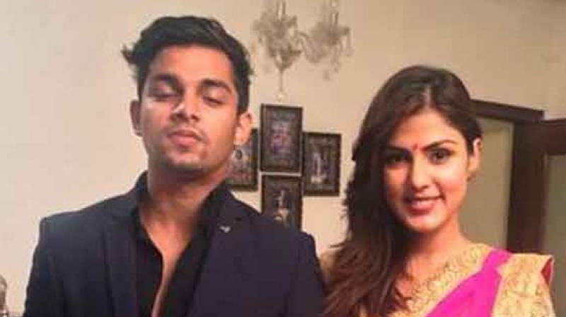 Showik Chakraborty with his sister Rhea