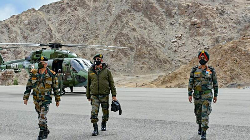 Army Chief General Manoj Mukund Naravane during his visit to review the security situation in Ladakh, Friday, Sept 4, 2020. (PTI)
