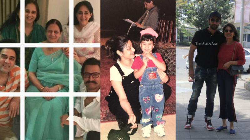 Aamir Khan and family, Janhvi Kapoor with Sridevi, Ranbir Kapoor with mommy Neetu Kapoor.