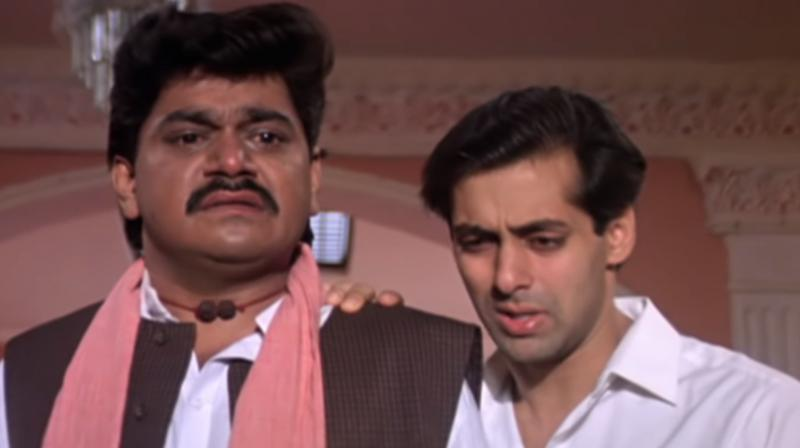A still from Hum Aapke Hain Koun featuring Salman Khan and Laxmikant Berde. (Photo: YouTube/Rajshri)