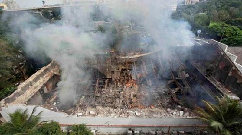 RK Studios after the fire. (Photo: PTI)