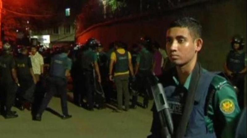 A raid by the Counter-Terrorism and Transnational Crime (CTTC) unit at a house in Ashkona Purba Para area of Dhaka led to the capture of two female militants and rescue of three children. (Photo: ANI)