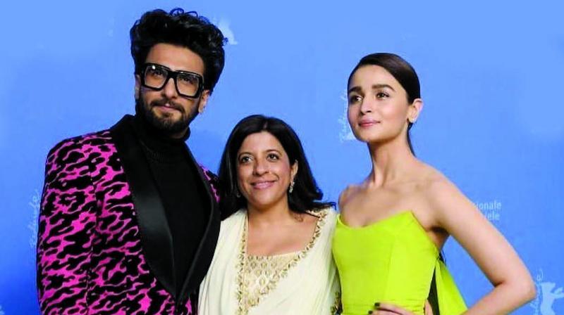 Ranveer Singh, Zoya Akhtar and Alia Bhatt
