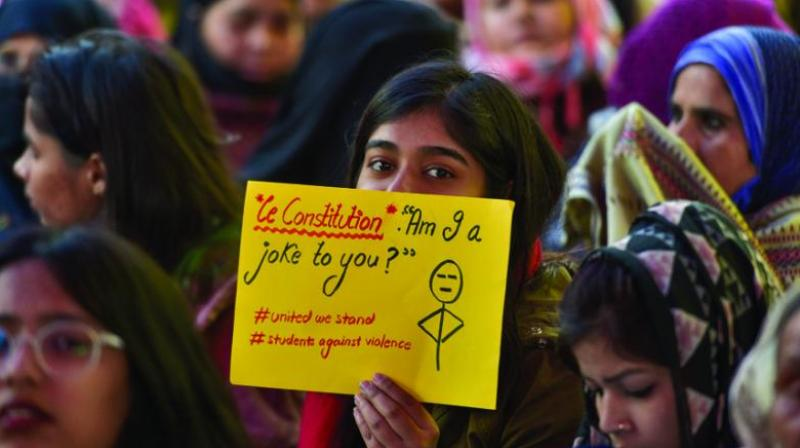 PTI file picture shows women staging a protest at Shaheen Bagh in Delhi.
