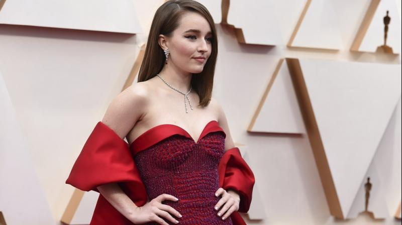 Kaitlyn Dever arrives at the Oscars on Sunday, Feb. 9, 2020, at the Dolby Theatre in Los Angeles. AP photo