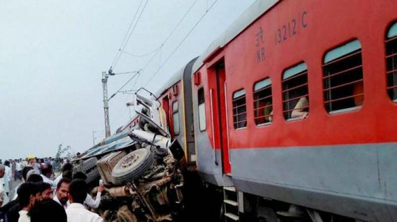 Kaifiyat Express was running at 105 kms per hour when the collision took place early on Wednesday. (Photo: PTI)