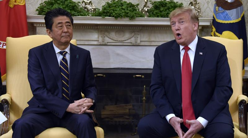 Trump will become the first foreign leader to greet the new emperor of Japan, Naruhito, when he travels there on May 25 to 28. (Photo:AP)
