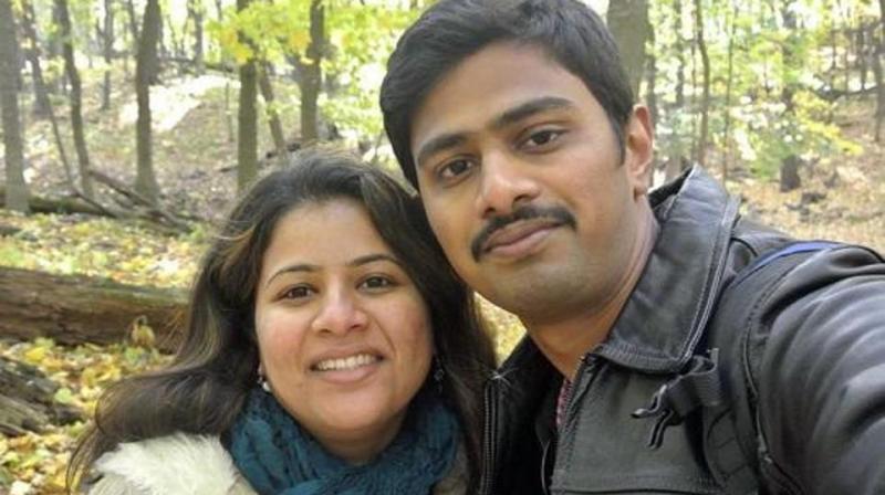 Srinivas Kuchibhotla (R) was killed in the February 22, 2017, attack. (Photo: AP)