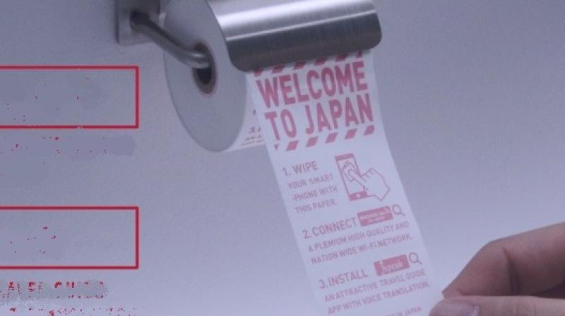 The rolls were put inside washrooms (Photo: YouTube)