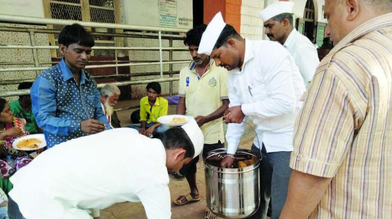 The dabbawalas arrive with food that can feed 70 people