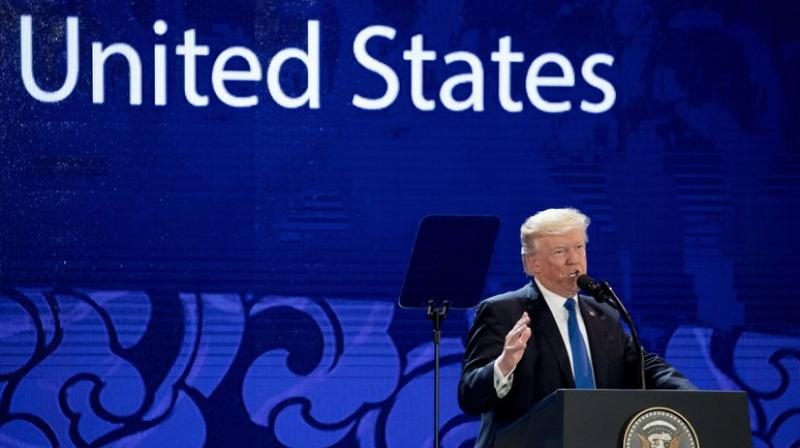 Trump went on to say that the US would 'no longer turn a blind eye to violations, cheating or economic aggression.' (Photo: AP)
