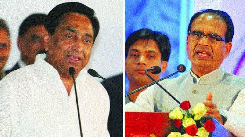 Ex-CM Kamal Nath and Madhya Pradesh CM Shivraj Singh Chouhan.