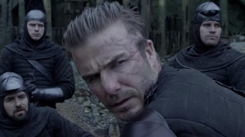 David Beckham in a still from 'King Arthur: Legend of the Sword'.