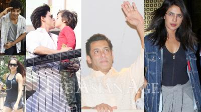 On the occasion of Eid 2019, Bollywood celebrities like Shah Rukh Khan, Salman Khan, Priyanka Chopra, Ishaan Khatter, Kartik Aaryan, Kriti Sanon and others were spotted in the city of dreams, Mumbai. (Photos: Viral Bhayani)