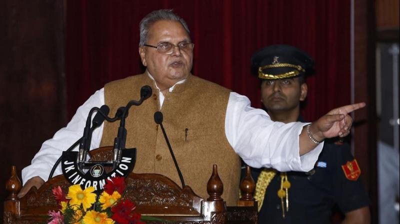 "The governor said that the ""tremendous work"" done by him cannot be matched by the elected governments that have served the former state in the past. (Photo: PTI)"