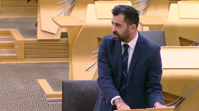 'Through the passing of this landmark bill, Scotland's Parliament has sent a strong and clear message to victims, perpetrators, communities and to the wider society that offences motivated by prejudice will be treated seriously and will not be tolerated', declared Scotland's justice minister Humza Yousaf. (Image credit : Twitter/@ScotParl)