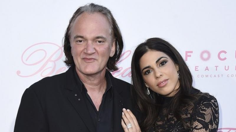 Quentin Tarantino with his girlfriend Daniela Pick. (Photo: AP)