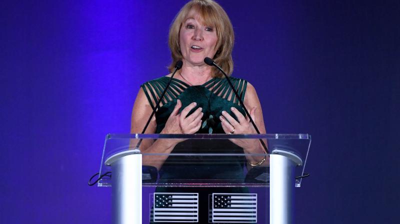 Susanne Lyons, the USOPC chair. AFP Photo