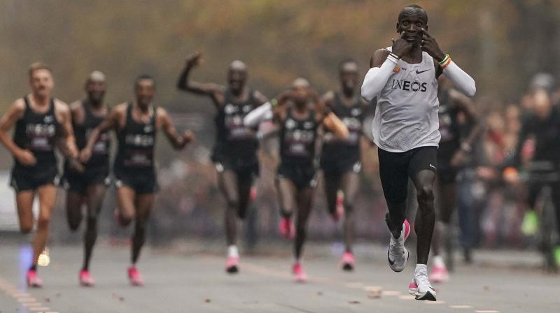 Eliud Kipchoge, the first man to run a marathon in less than two hours. DC File Photo
