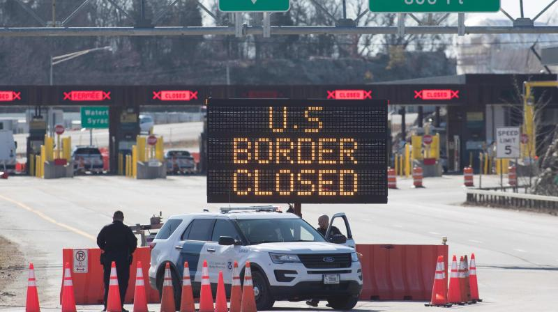 Canadian government continues to take drastic measures one of which was to seal the border with the United States on Sunday. AFP Photo