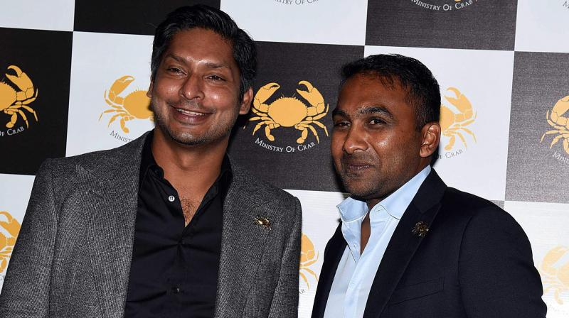 Kumar Sangakkara and Mahela Jayawardene have been active on social media asking people not to panic amid COVID-19 outbreak. AFP Photo