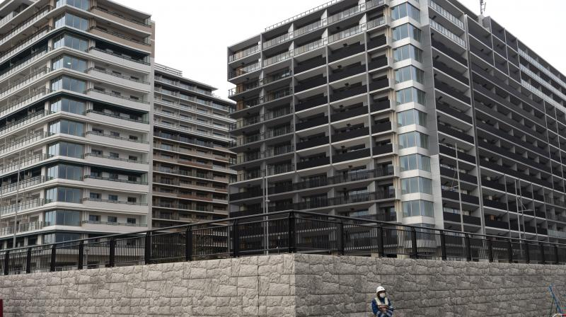 The athletes' village for the Tokyo 2020 Olympics, which are to be renovated and sold soon after the Games. AP Photo