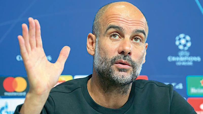Manchester City Manager Pep Guardiola. DC File Photo
