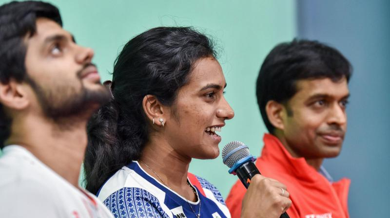 Sai Praneeth and PV Sindhu, whose ranking before the cancellation of qualifiers, was good enough to earn them a slot in the Olympics are now losing ranking points for not playing in tournaments that were postponed. Photo by Pavan