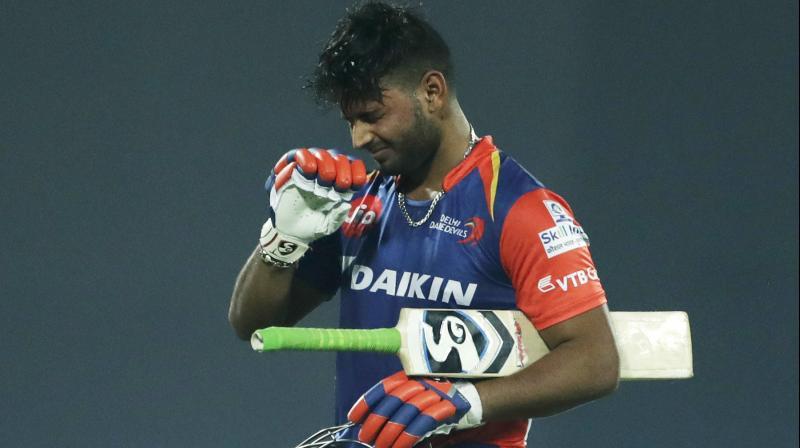 Rishabh Pant curses himself on way back to the hut. AP Photo