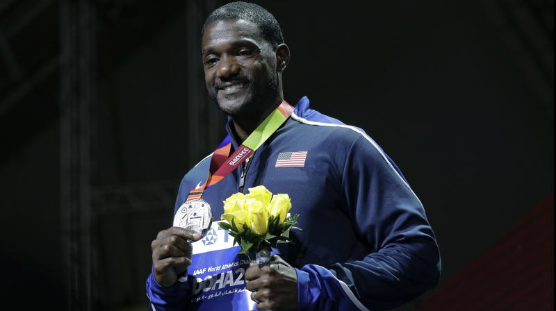 Justin Gatlin of the United States. AP Photo
