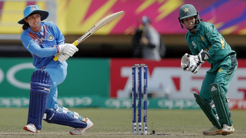 Mithali Raj in action during an ODI against Pakistan. (Photo: PTI)