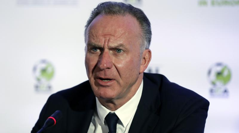 Former German international and Bayern Munich CEO Karl-Heinz Rummenigge Karl-Heinz Rummenigge. AP Photo