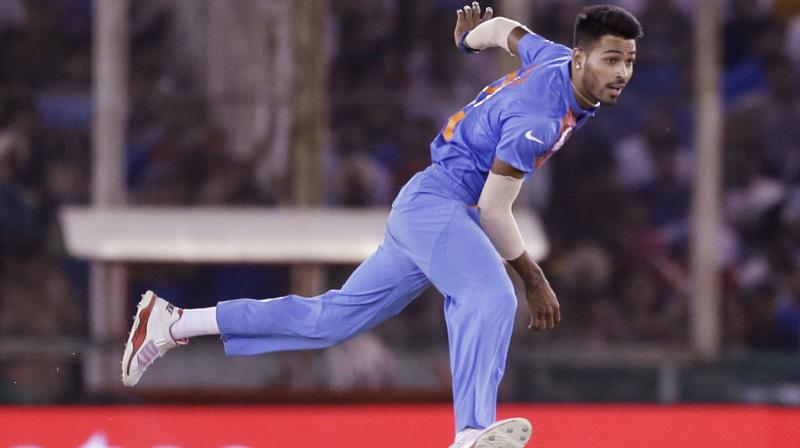 Pandya has contributed with the ball by taking 44 wickets in 44 innings with an economy of 5.53 in ODIs. (Photo: AP)