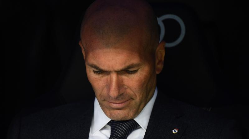 Zidane was uncharacteristically upset after the setback against Rayo, the team's fourth in six matches. (Photo: AFP)