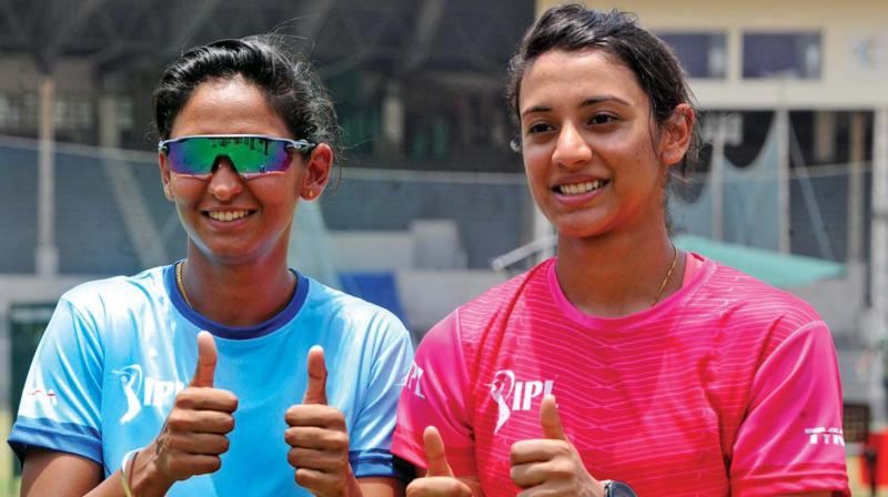 Harmanpreet Kaur (left) and Smriti Mandhana will lead the teams. (Photo: BCCI)