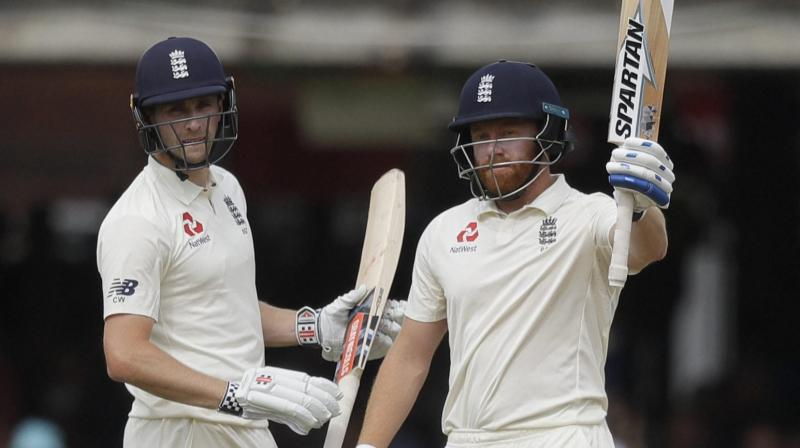 Chris Woakes (120*) and Jonny Bairstow (93) have put India on the mat and pushed the hosts in a position from where they can go on to win the Test to take 2-0 lead in the five-match series. (Photo: AP)