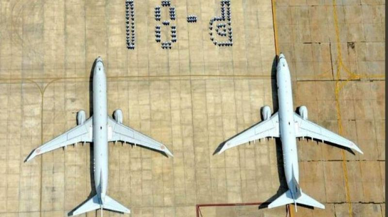 Indian Navy's P8I Long Range Maritime Reconnaissance Anti Submarine Warfare (LRMRASW) aircraft of Indian Naval Air Squadron 312 completes 6 years of opeartions. (Photo: ANI)