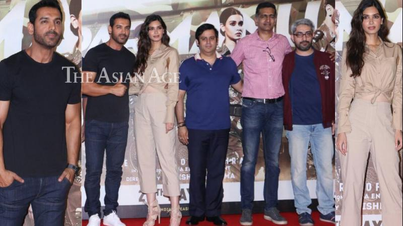 Amid the controversy surrounding the film, the team of 'Parmanu: The Story of Pokhran' laiunched the trailer at an event in Mumbai on Friday. (Photo: Viral Bhayani)