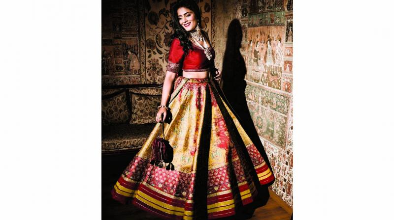 Although new colours are exciting for brides, many are going for the traditional red, but experimenting with different shades.