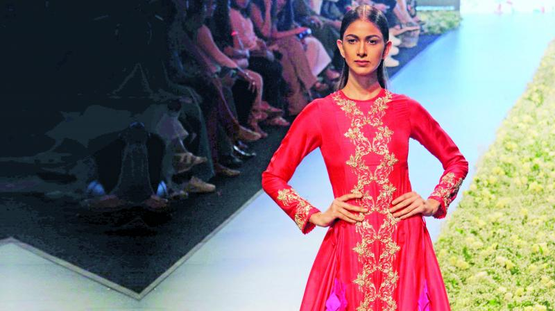 Though the dresses seem elaborate and heavy, Anushree ensures us that they are meant for summer and are light enough on the body.