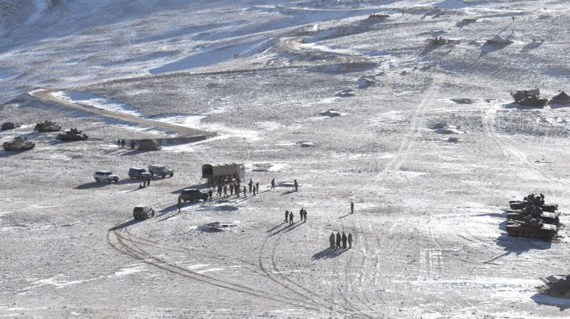 Indian and Chinese troops and tanks disengage from the banks of Pangong lake area in Eastern Ladakh. (Representational Photo:PTI)