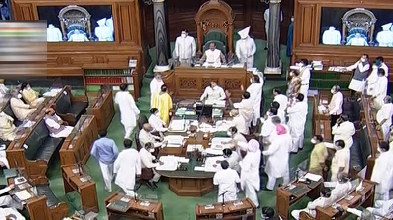 In the voting, 385 were in favour while no one voted against it. The amendments moved by the Opposition members were rejected by the House. (LSTV/PTI Photo)