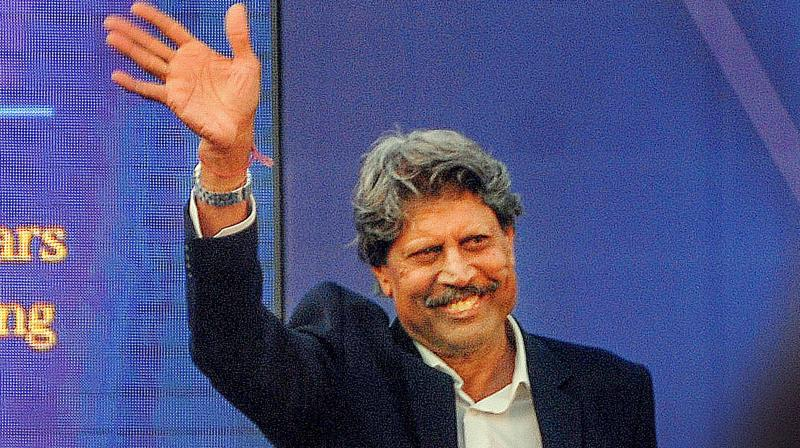 World Cup winning former Indian captain Kapil Dev. PTI Photo