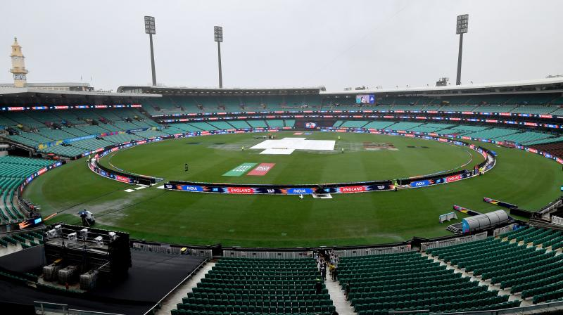 A view of the Sydney Cricket Ground where the first Twenty20 women's World Cup semi-final between India and England was washed out. AFP Photo