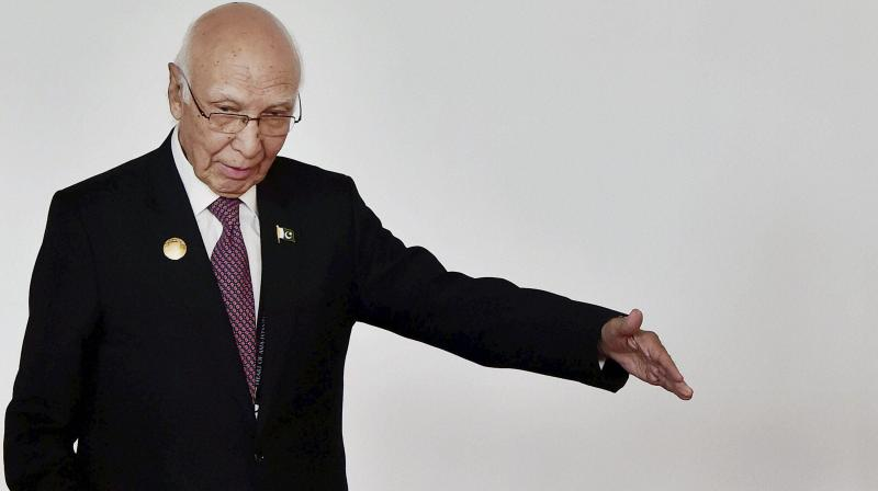 Pakistan Prime Minister's Advisor on Foreign Affairs Sartaj Aziz at the inauguration of the 6th Heart of Asia Conference in Amritsar. (Photo: AP)