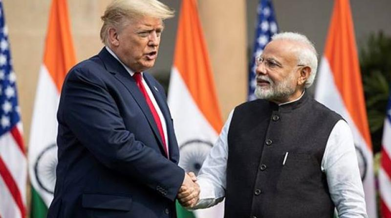 US President Donald Trump and Indian Prime Minister Narendra Modi (AP)