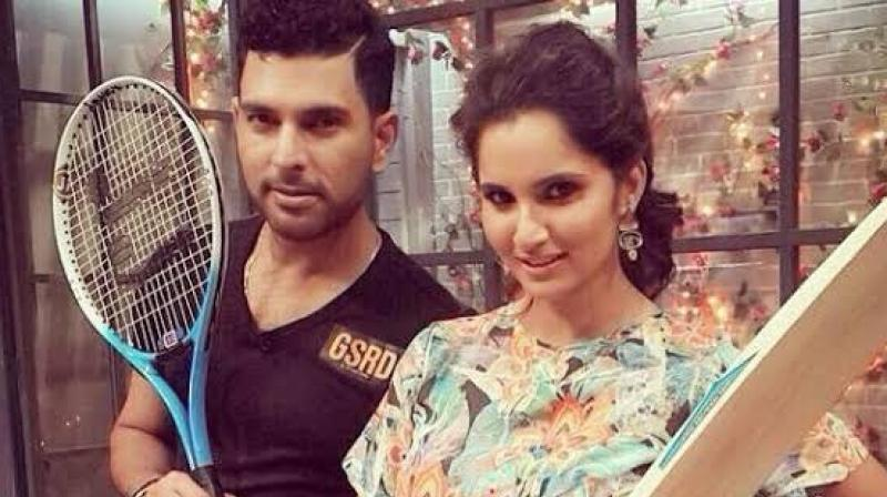 Yuvraj Singh and Sania Mirza, who are known for their quirky statements and responses, have recently exchanged friendly yet jocular banters between each other. (Photo:Twitter)