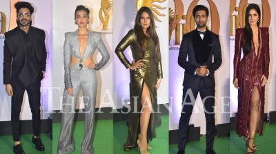 On Monday, Bollywood stars like Vicky Kaushal, Katrina Kaif, Radhika Apte, Radhika Madan, Arjun Rampal and others dazzled on the green carpet of pre-IIFA event, IIFA Rocks in Mumbai. (Photos: Viral Bhayani)
